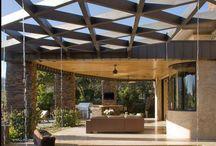 water features in wooden deck