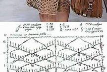 crochet, dresses and skirts