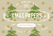 CHRISTMAS PAPERS / DIGITAL PAPERS - CHRISTMAS PAPERS BY DIGITAL PAPER SHOP