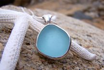 Our sea glass jewellery / We are inspired by everything we love about life on the coast and use silversmith techniques to set our sea glass in the exact shape nature intended. We only use genuine sea glass that has washed up along our local shores or abroad...