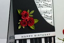 Piano Shaped Cards