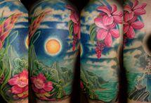 Tattoo Flowers butterfly