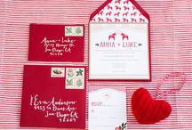 Christmas and Holiday Wedding Inspiration / Includes lots of holiday cheer in a Christmas Wedding