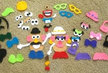 Play: Felt and Magnet board, Busy Bags