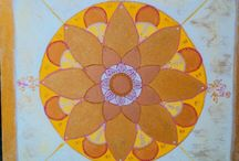 GOLD MANDALA / MANDALA ART- CANVAS PAINTINGS