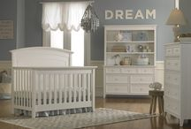 Transitional Nursery Furniture / Clean lines and simple style make a gorgeous nursery