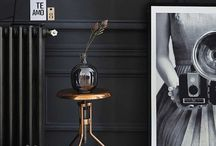 Dramatic interiors/dark/black