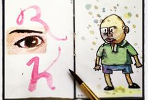 SKETCHBOOK | 10 / Sketchbook com aquarela sobre papel Vergê.