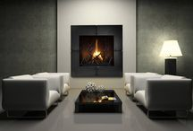 Modern fireplaces / If you have a modern or contemporary space heat it up with one of these modern fire place looks.