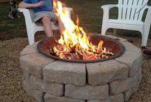 ognień w ogrodzie