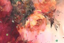 Aquarelle de fleurs