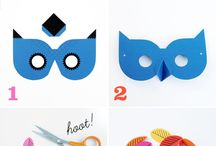 kids paper masks tutorial