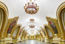Architecture, Palaces, Castle Towers / Kremlin Palace, Moscow metro, Churches, Historical places, Bridges