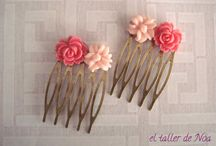 Peinetas florales Col. Garden Coiffure / Peinas o peinetas con un toque retro y floral para adornar nuestros peinados