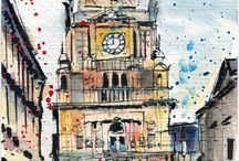Drawing Halifax (UK) / Drawings and sketches of Halifax and Calderdale (UK) by Sophie Peanut. Pen, watercolour and pencil sketches and illustrations.
