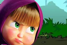 Masha and The Bear - Nursery Rhymes - songs - spiderman