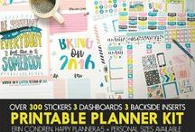 Planner Addiction / Supplies that help creating planners pages
