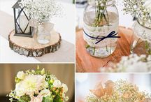 květiny a vázy na svatbu
