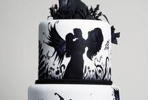 Silhouette wedding cakes