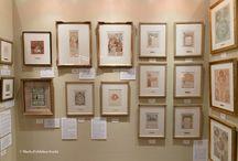 仙台展グッズギャラリー / 宮城県美術館2Fのミュシャ展グッズ販売会場の様子です。展示鑑賞後にぜひお立ち寄りください。