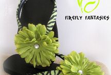 Lime Green & Zebra Print