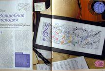 Schema punto croce Note musicali