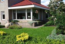 Kleurende Achtertuin / Deze kleurrijke achtertuin is in Overijssel te vinden. Deze mensen hadden na een bezoekje in de Tuinen van Appeltern ook zin in een kleurrijke tuin met vijver. Een ontwerp op maat gemaakt en de tuin mogen realiseren. Ieder moment van het jaar bloeit er iets in deze tuin. Een goede combinatie van wintergroen en bladverliezend is er gemaakt d.m.v. veel soorten beplanting.  Deze tuin is aangelegd door: Wenninkhof Hoveniers en Groencentrum!