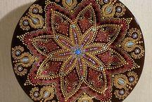 Mozaika kulaté stoly