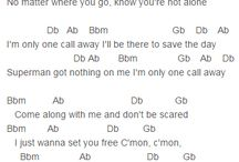 song lyrics / Lets start to sing!
