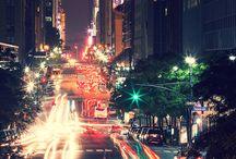 travel, night, light