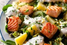 Salade en plat unique