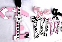 Zebra Print Painted Letters, Nursery Decor / Zebra Print Painted Letters, Zebra Print Nursery Wall Art, Zebra Print Baby Shower, Zebra Print Baby Name Signs