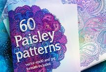 paisley patterns / Best collection of paisley patterns with varied colors and rich detailing.