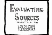 Evaluating Sources / Information literacy tools, videos, and graphics