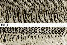Узоры с вытянутыми петлями / Вязание