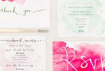 Watercolour invitations