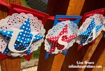 Red, White, and Blue / Fourth of July inspired projects to make...share, diy decor, and more! Lisa Brown, Stampin' Up! Demonstrator