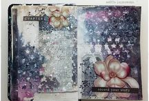 Art Journal Inspiration / Beautiful examples of art journals that inspire me