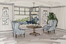 My Work / Sketches for interiors
