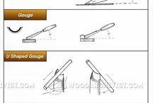 Slipa snidar-verktyg. Carving Tools.