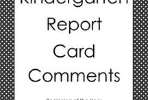 Kindy report comments