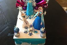 Crafts using Chicky hair supplies. / Frozen shoe box float using Chicky Chicky Blimg Bling Sequin Ball Ponys as snowballs.
