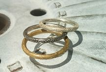 multiple rings / rings in sterling silver or bronze , to wear all together or just single !