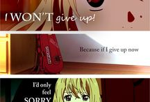 Anime quotes / This is the only board I have that has only my descriptions, or empty if I don't  put one.