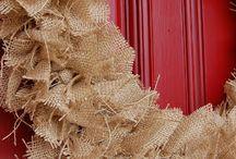 burlap wreath / by Melissa Arnold