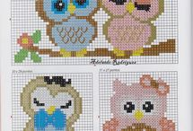 ANIMALS 4-OWL*CROSS STITCH-EMBROIDERY