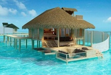 Maldives & Hawaii / Dream holidays- walking on the beach, swimming in the sea and in my mans arms!