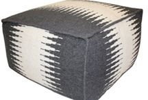 Ottomans + Poufs / Stunning poufs for Indoor and Outdoor styles!