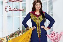 Chanderi Charisma / Presenting Chanderi EthnicSets from BlueKurta. Paired with coloful Dupattas and equally alluring Churidars, these Kurtas can pep any party. Select at http://www.bluekurta.com/index.php?route=product/search&filter_name=WESc611090