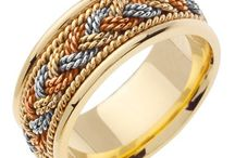 Hand Braided Wedding Bands / Our Hand Woven/ Hand Weaved Wedding Rings Bands, Collection for His and Her